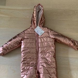 Hot pink bunting, puffy coat for toddler girl